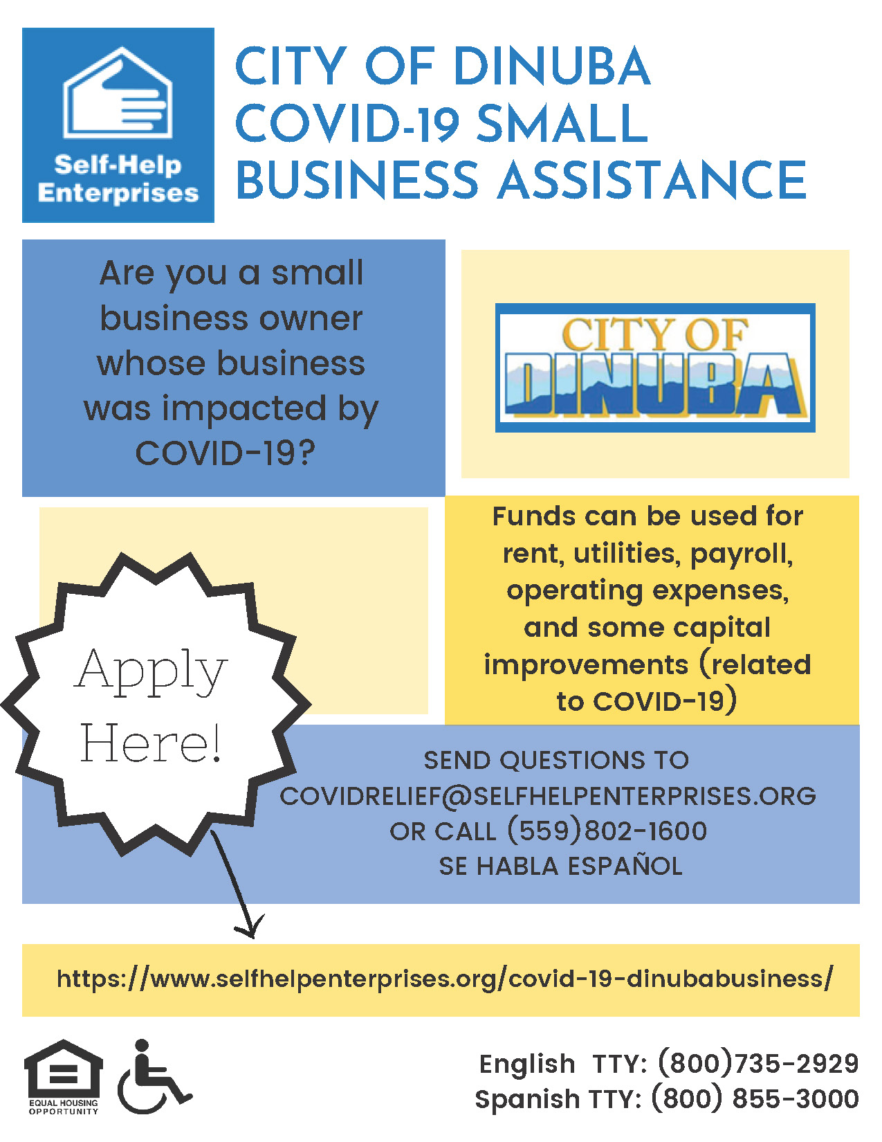 Dinbua Business Assistance Flyer